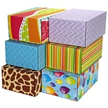 8.8(L)X 5.5(W)X12.2(H) GPP Gift Shipping Box, Classic Line, Assorted Styles, 6/Pack