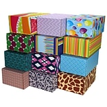 8.8(L)X 5.5(W)X12.2(H) GPP Gift Shipping Box, Classic Line, Assorted Styles, 12/Pack
