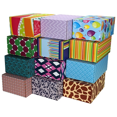 8.8X 5.5X12.2 GPP Gift Shipping Box, Classic Line, Assorted Styles, 48/Pack