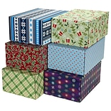 6.2(L)X 3.7(W)X9.5(H) GPP Gift Shipping Box, Holiday Line, Assorted Styles, 6/Pack