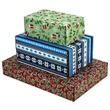 Assorted Size GPP Gift Shipping Box, Holiday Line, Assorted Styles, 6/Pack
