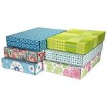 12.2(L)x 3(W)x17.8(H) GPP Gift Shipping Box, Lisa Line, Assorted Styles, 6/Pack