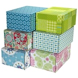 6.2(L)X 3.7(W)X9.5(H) GPP Gift Shipping Box, Lisa Line, Assorted Styles, 6/Pack