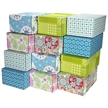 8.8(L)X 5.5(W)X12.2(H) GPP Gift Shipping Box, Lisa Line, Assorted Styles, 48/Pack