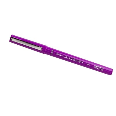 JAM Paper® Calligraphy Pen, 2.0mm, Purple, Sold Individually (6504955)