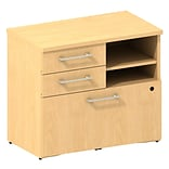 Bush Business 300 Series 30W Piler Filer Cabinet, Natural Maple, Installed