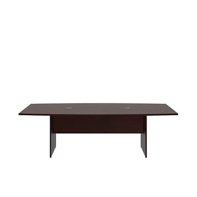 Bush Business 96L x 42W Boat Top Conference Table with Wood Base, Harvest Cherry