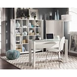 Bush Furniture Aero Writing Desk and 16-Cube Bookcase/Room Divider, Pure White