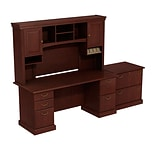 Bush® Syndicate - Harvest Cherry; 72x22 Ped Desk w/ Hutch & Lateral File, FA