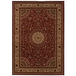 Oriental Red/ Ivory Indoor Machine-made Polypropylene Area Rug (53 X 76)