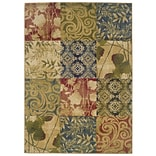 Floral Beige/ Green Indoor Machine-made Polypropylene Area Rug (5 X 73)