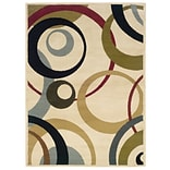 Geometric Ivory/ Beige Indoor Machine-made Polypropylene Area Rug (33 X 55)