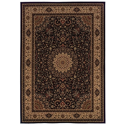 StyleHaven Floral Beige/ Red Indoor Machine-made Polypropylene Area Rug (82 X 10)