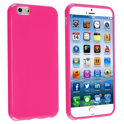 Insten® TPU Case For iPhone 6; Hot Pink Jelly