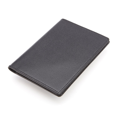 Royce Leather® RFID Blocking Passport Document Wallet, Black