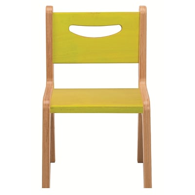 Whitney Plus 10 Birch Laminate Childrens Chair, Electric Lime