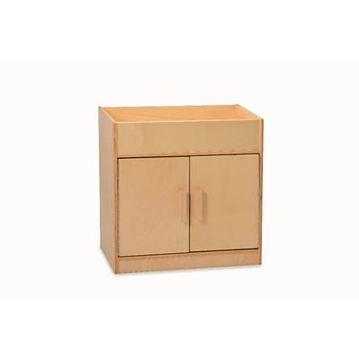 Whitney Plus Birch Laminate Bin-Top Cabinet, Natural