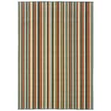 Stripes Green/ Blue Indoor/Outdoor Machine-made Polypropylene Area Rug (37 X 56)