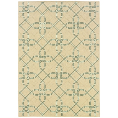StyleHaven Traditional Nylon 37 x 56 Green/Beige Area Rug (WALL012E18X11L)