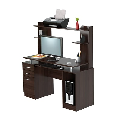 Inval America Computer Workcenter Wood Desk