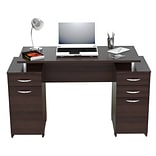 Inval America Double Pedestal Computer Wood Desk