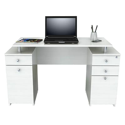 Inval America Laura Computer Desk with Accessory Drawers