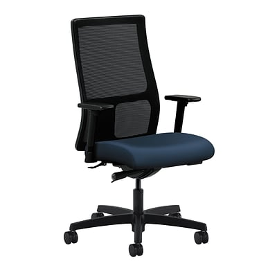 HON® Ignition®  Knit Mesh Mid-Back Office/Computer Chair, Adjustable Arms, Synchro-Tilt, Ocean (HONIW103UR96)