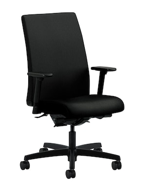 Hon Ignition Mid Back Office Computer Chair Adjustable Arms Classic Iron Fabric