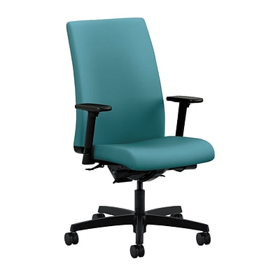 HON® Ignition® Mid-Back Office/Computer Chair, Adj Arms, Synchro-Tilt, Centurion Glacier Fabric