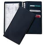 Black Checkbook Register Secretary Wallet