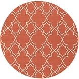 Surya Alfresco ALF9591-89RD Machine Made Rug, 89 Round