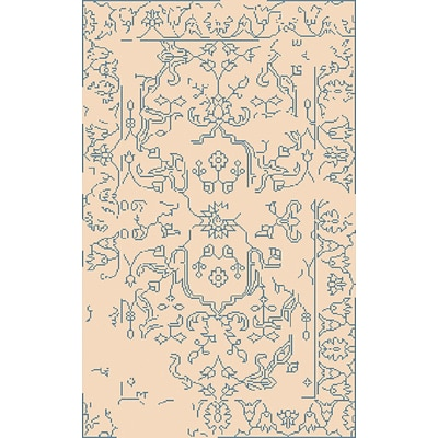 Surya Bagras BGR6006-58 Hand Knotted Rug, 5 x 8 Rectangle