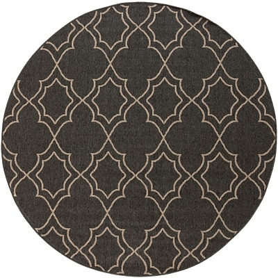 Surya Alfresco ALF9590-89RD Machine Made Rug, 89 Round