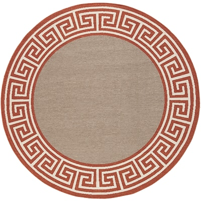 Surya Alfresco ALF9628-53RD Machine Made Rug, 53 Round