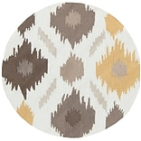 Surya Brentwood BNT7676-3RD Hand Hooked Rug, 3 Round