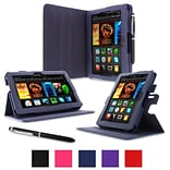 Navy Folio Case For Kindle Fire HD 7