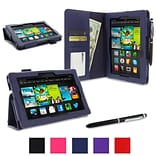 Navy Folio Case Cover F/ Kindle Fire HD 7
