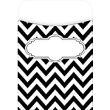 Black/White Chevron Library Pockets