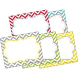 Beautiful Chevron Self-Adhesive Name Tag