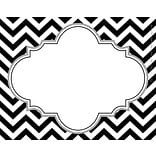 Black/White Chervon Self-Adhesive Name Tag