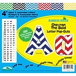 Barker Creek 4 Letter Pop-Outs, Nautical Chevron, 255/Pack
