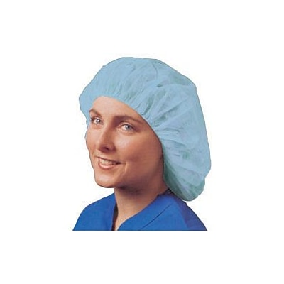 Keystone 110SMSI-24-BBG Latex Free Polypropylene Blue Bouffant Cap, 24, 250/Box