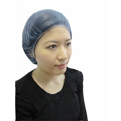 Keystone 109HPI-18-BL Latex Free Nylon Blue Hair Net, 18, 1000/Box