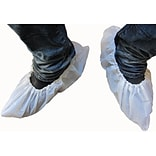 Keystone SC-CPE-XL-1BAG Polyethylene Shoe Covers, White, 100/Pack