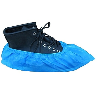 Keystone SC-CPE-HD-LG-BL Polyethylene Shoe Covers, Blue, 300/Box