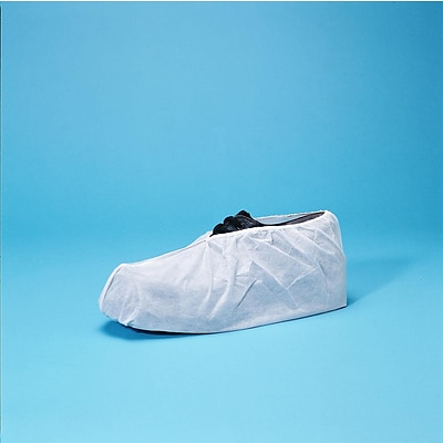 Keystone SC-KG-XL White Polypropylene Shoe Covers, XL, 300/Box