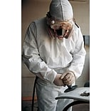 Keystone CVL-NW-HD-HE-LG White Heavyweight Polypropylene Disposable Coverall, Large, 25/Box