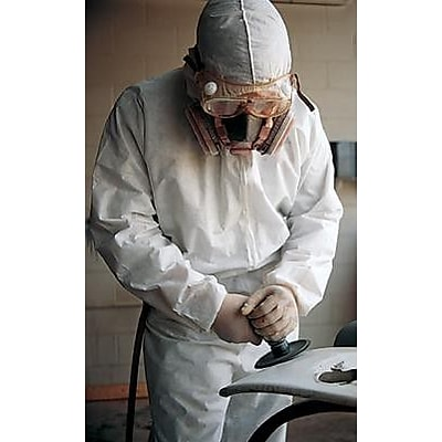 Keystone CVL-NW-HD-HE-4XL White Heavyweight Polypropylene Disposable Coverall, 4XL, 25/Box