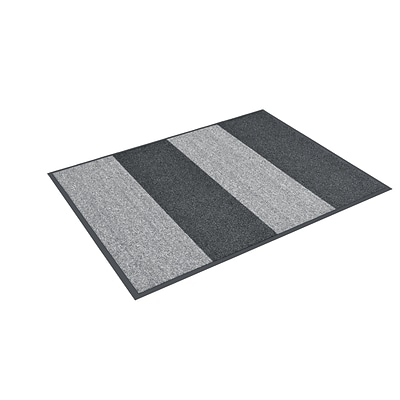 HomeTrax Designs C07S0036CH 36 x 72 Textura Color Block Door Mat, Charcoal