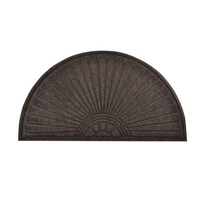 HomeTrax Designs 169F0036CH 36 x 70 Guzzler Sunburst Door Mat, Charcoal